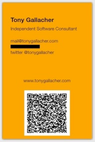 Tony Gallacher Business Card