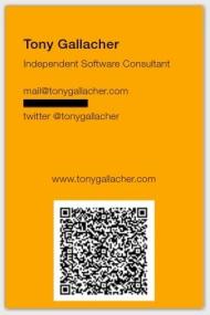 Tony Gallacher Business Card
